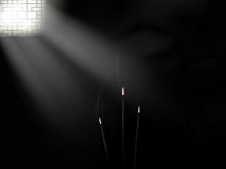 Dark room. Vector