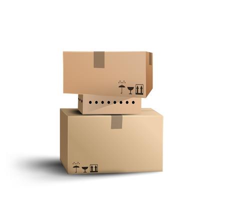 ボックス。ベクトル  イラスト・ベクター素材