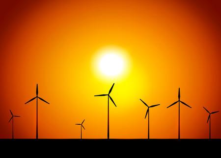 windpower: Windmill. Vector