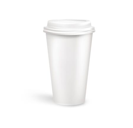 writable: Plastic coffee container. vector