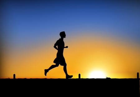 Jogging man. Vector   Illustration
