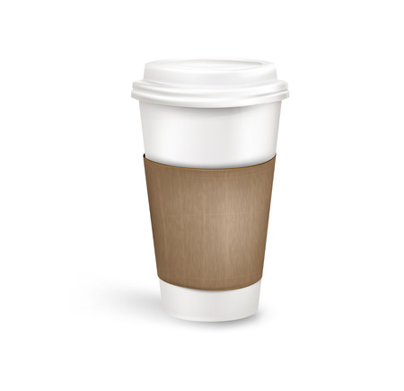 Plastic coffee cup. Vector