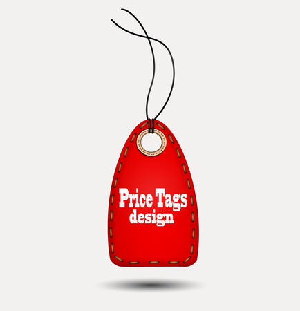 pricetag: Red price-tag. Vector