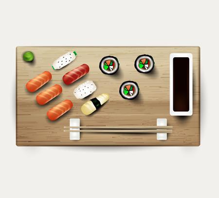 kobe: The sushi. Vector