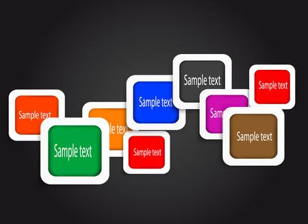 messages: Messages frames. Vector  Illustration