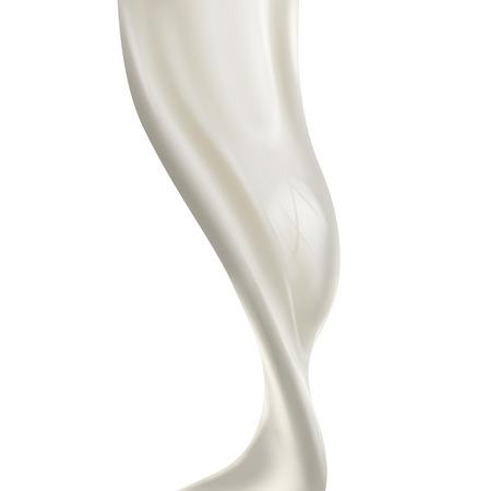 mlecznych: wylewanie mleka powitalny samodzielnie na białym tle. Wektor
