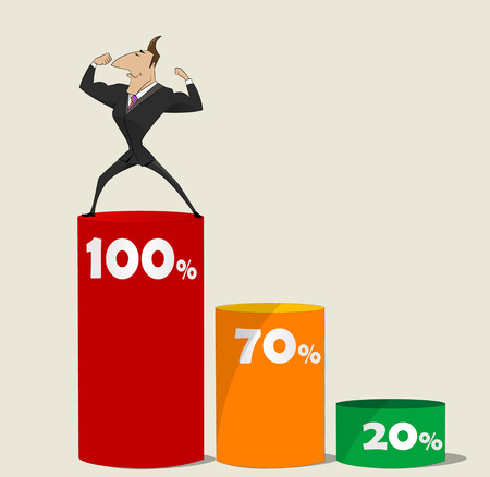 self training: Success in business - self development. Vector illustration