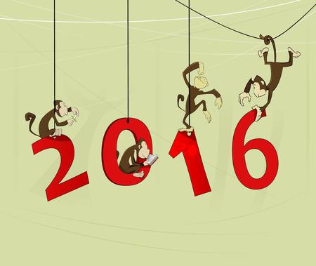 Happy new year 2016. Vector illustration