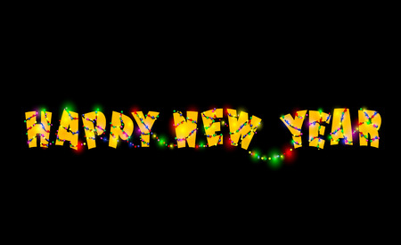 Happy new year  design. New years illustration. Vector Illustration