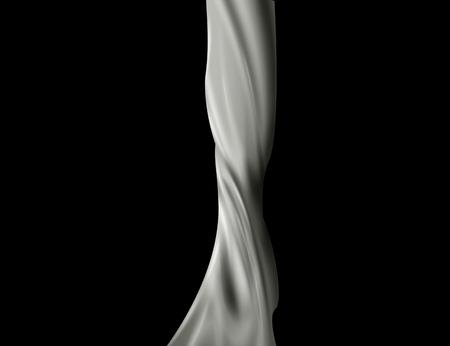 pouring milk splash isolated on black background. Vector
