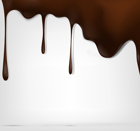 Falling chocolate , vector illustration. Layered Illustration