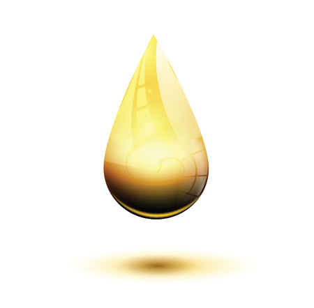 organic fluid: Honey drop realistic illustration. Layered vector eps 10
