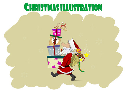 one year old: Santa Claus character design. Layared vector illustration