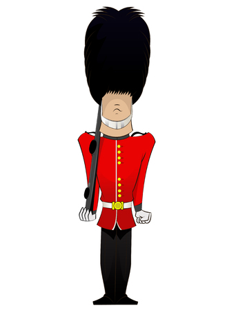 Queen Soldier cartoon. Vector karakter illustratie fun