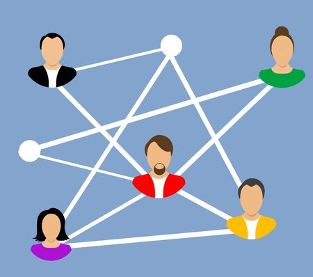 networking people: Social Networking People Conceptual Vector Design illustration