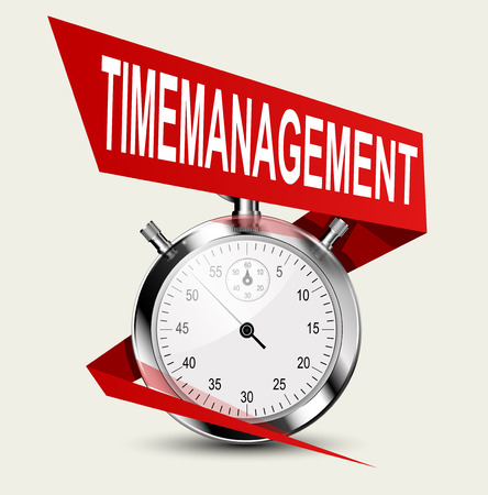 back in an hour: Stopwatch - time management concept. Business concept illustration Illustration