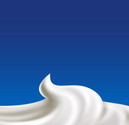 Whipped cream vector illustration. Natural and organic food concept illustration Vectores