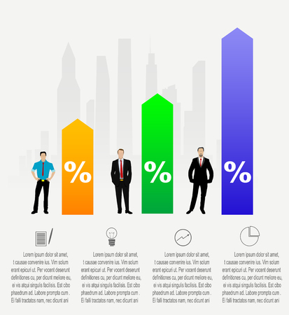 wages: Modern Business step options. Vector illustration. can be used for  web design, infographics, banner. It depicts the process of professional growth, career, profit growth, wages Illustration