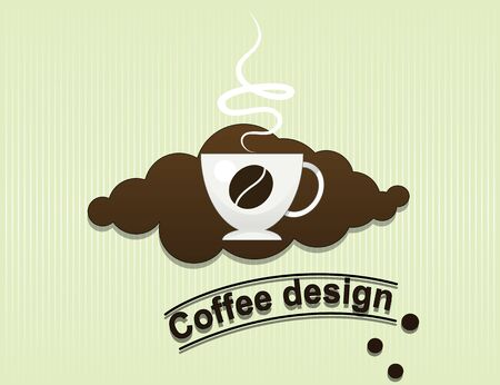 flavor: coffee cup flavor design background.