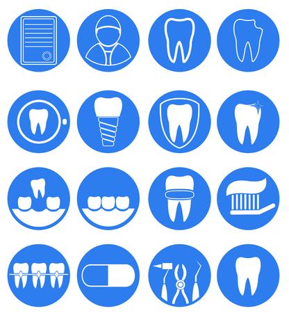rotting: Dental icon set for dental Infographic. Vector