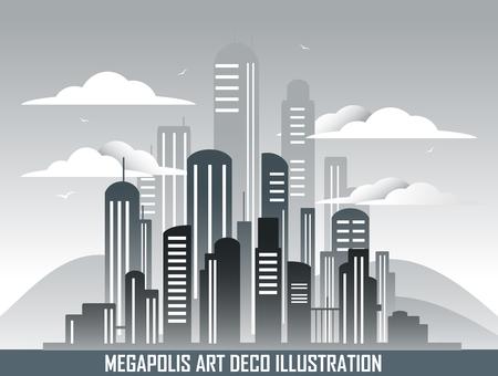 afar: Retro megalopolis in art deco style