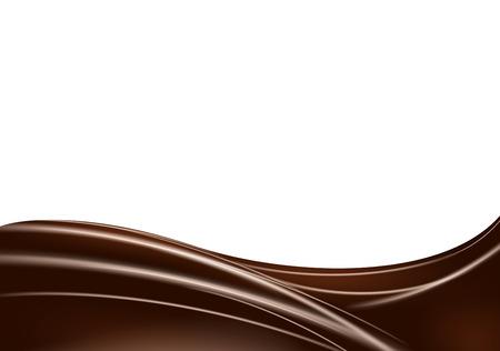 la onda Resumen de fondo de chocolate. Ilustración realista del vector