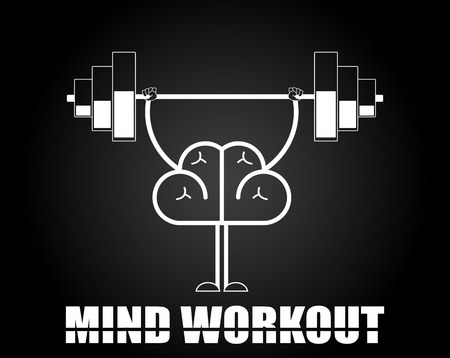 hardy: Brain training illustration. Creative concept of mind workout. Vector