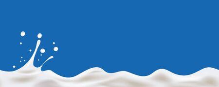 Fondo senza cuciture lineare dell'onda del yogurt crema. illustrazione
