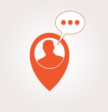 Customer support service flat icon Illustration