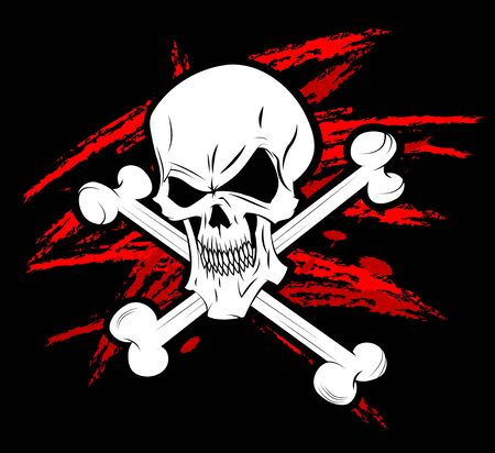 Pirate symbol Jolly Roger Stock Photo