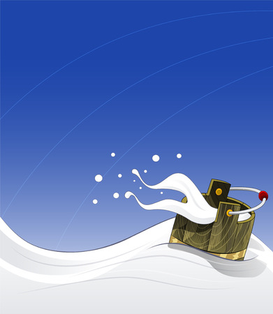 Cartoon illustration of milk wave Illustration