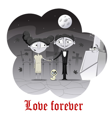 paranormal: Paranormal love concept Illustration