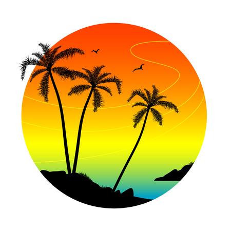 Palm silhouettes illustration Illustration