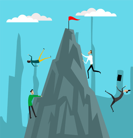 Goals achivement illustration