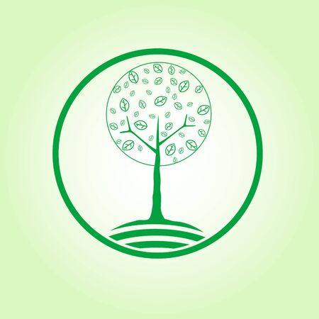 Round symbol of tree Illustration