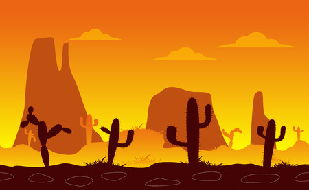 Linear seamless desert Illustration