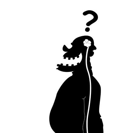 wit: Stupid man silhouette