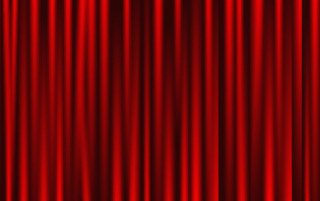 Theatrical background. Red drape curtains