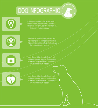 Dog infographics with icons. Illustration