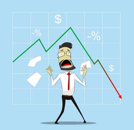 Businessman in panic Illustration