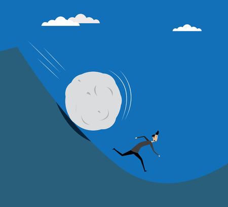 Illustration of businessman running Illustration