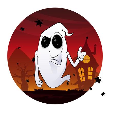 Ghost Halloween concept Ilustracja