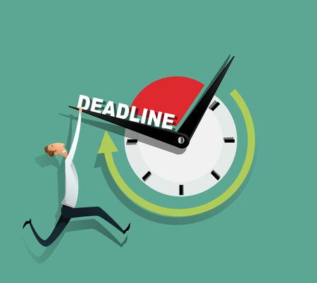 Freelance programmeur worstelt met de deadline Vector Illustratie