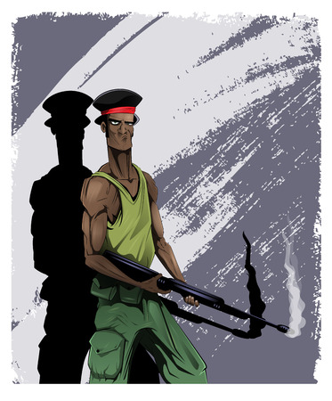 Black cartoon American G.I.