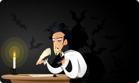 Great dark gothic writer writes terrible story