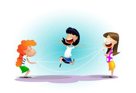 Group of cheerful kids having fun.