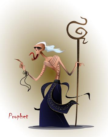Stylized image of the prophet Illustration