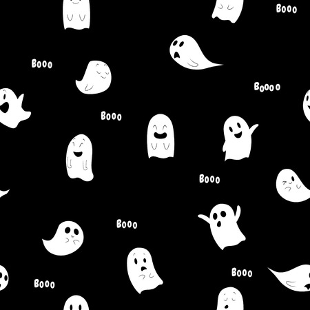 Halloween spooky seamless pattern. Halloween concept design. Vector