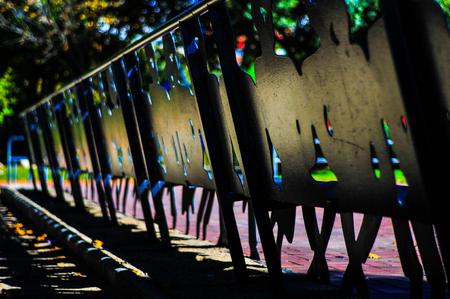 The iron bench Stok Fotoğraf