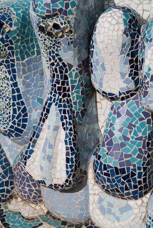 Modernist Fountain Detail Stock Photo